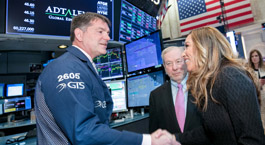 Lisa Wardell and Ron Taylor on the floor of the NYSE