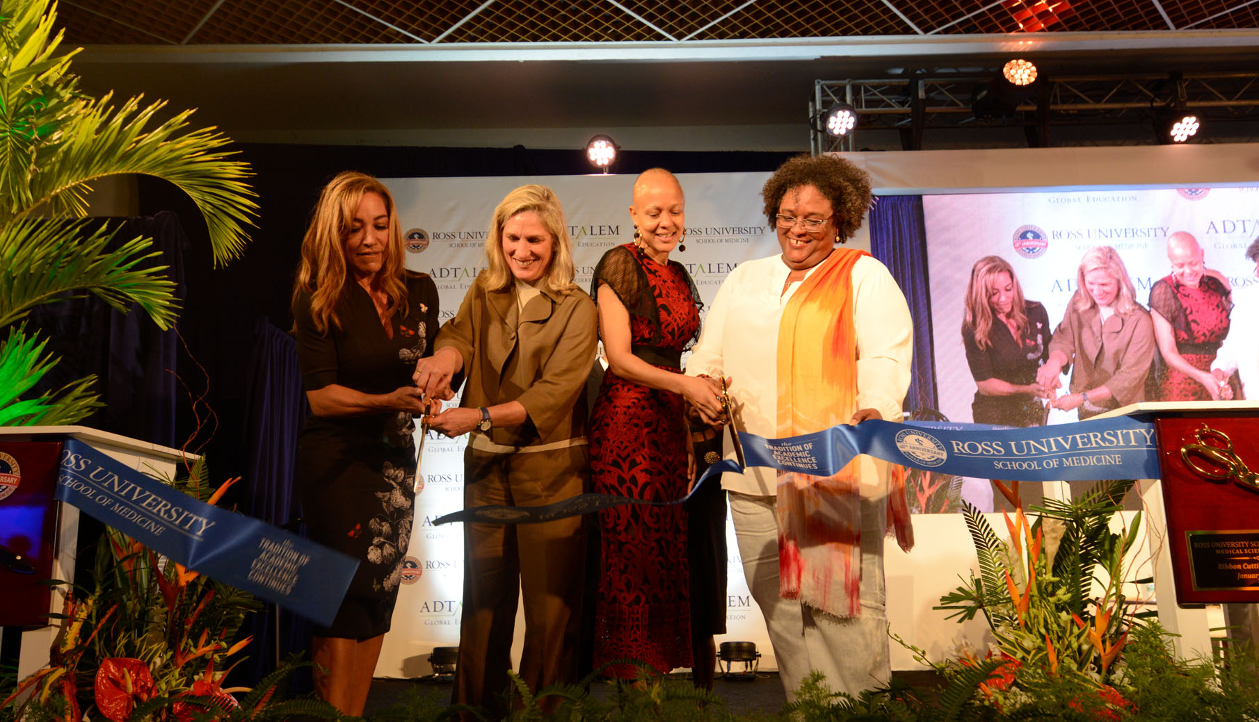 Photo of Barbados ribbon cutting
