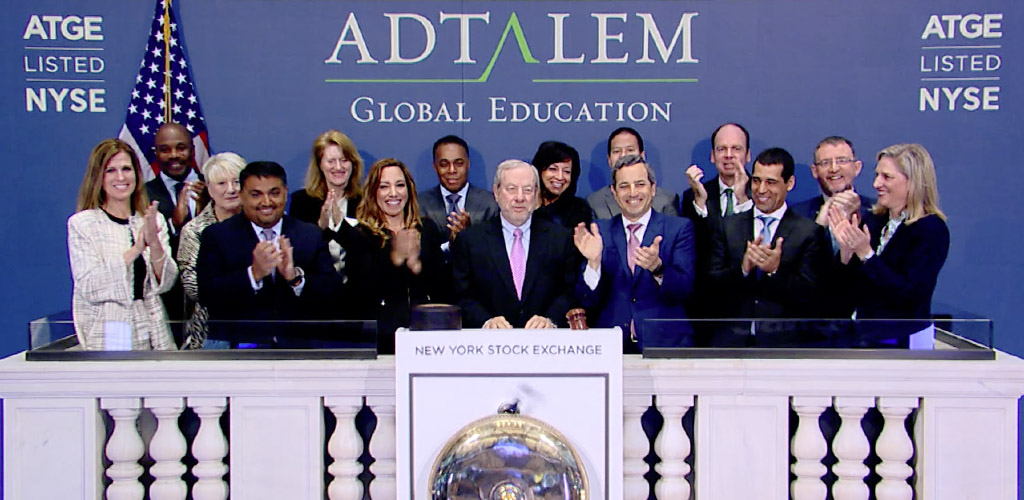 Members of the Adtalem leadership rang the bell at the NYSE to open trading