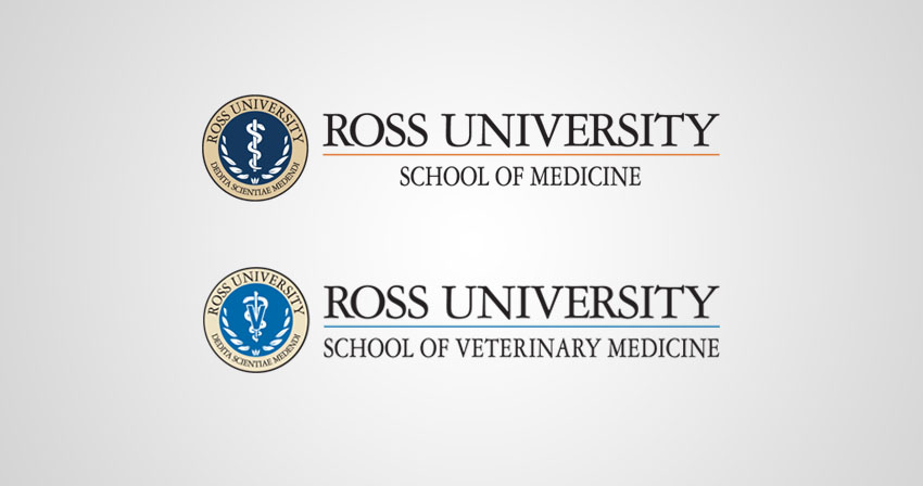 Ross University Newsroom logos