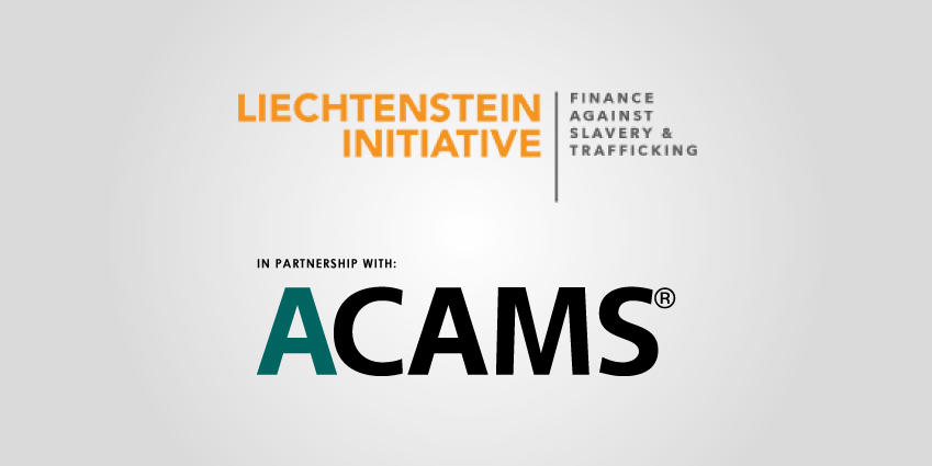 Liechtenstein Initiative FAST and ACAMS logos