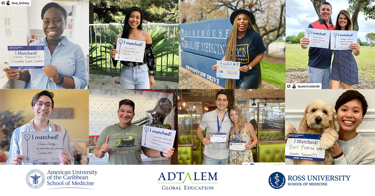 Collage of Adtalem Medical School students