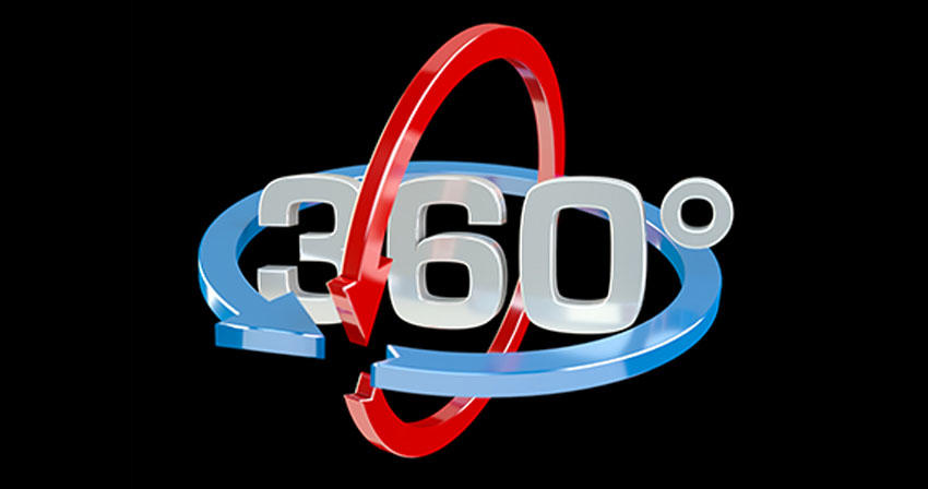 "graphic text of ""360 degrees"""