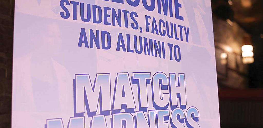 photo of a Match Madness banner