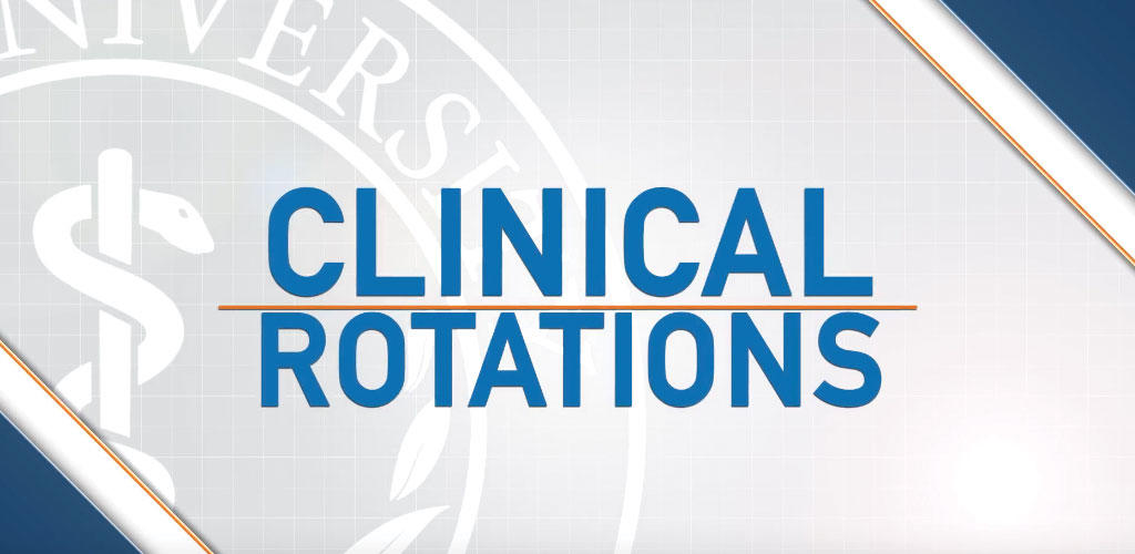 "graphic text of ""Clinical Rotations"""