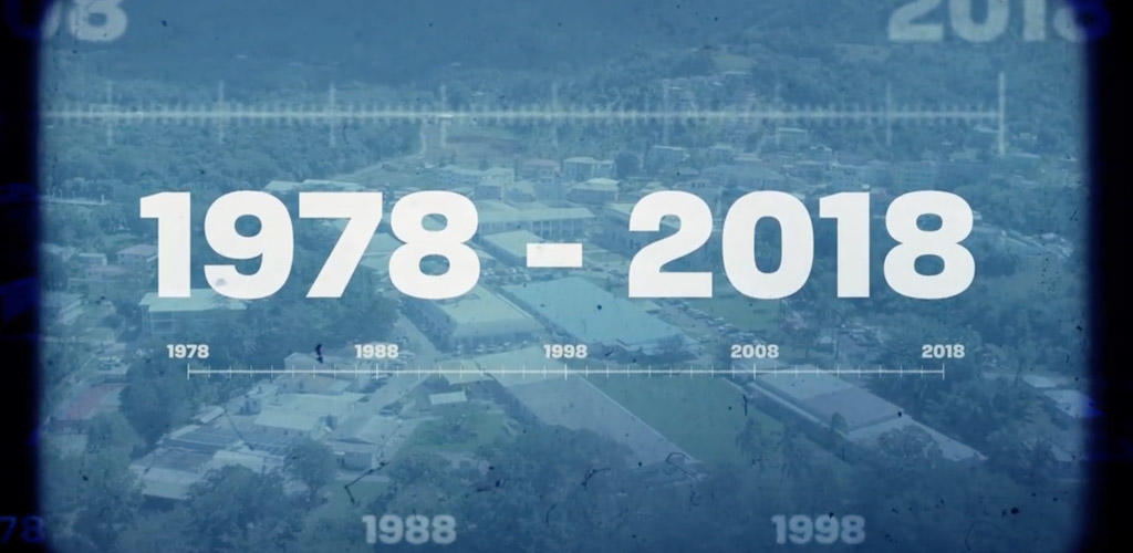 "graphic text of ""1978-2018"""